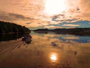 Astor på vei til hjemmehavn i Oslofjorden