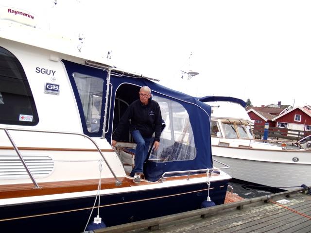 Knut Arnesen med Delphin.
